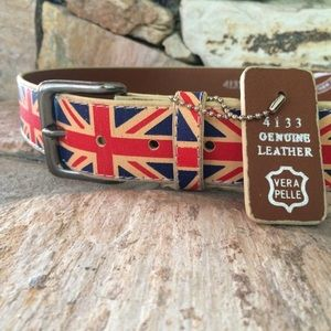 Union Jack Leather Belt